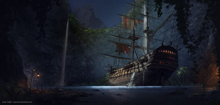 Pirate\'s Den by Andy Walsh | Illustration | 2D | CGSociety
