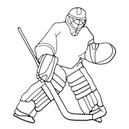 Hockey Goalie Iron Sports Shadow Decorative Wall Art By Decor By Hdc