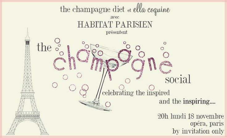 #TheChampagneSocial #Paris #Party Invite