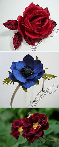Живые цветы из ткани своими руками