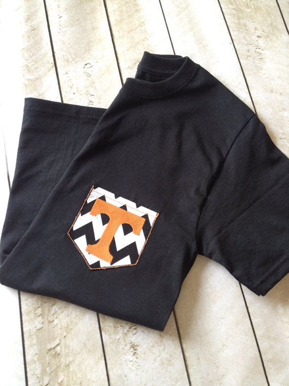 Black Tennessee Vols Pocket Shirt on Etsy, $16.99
