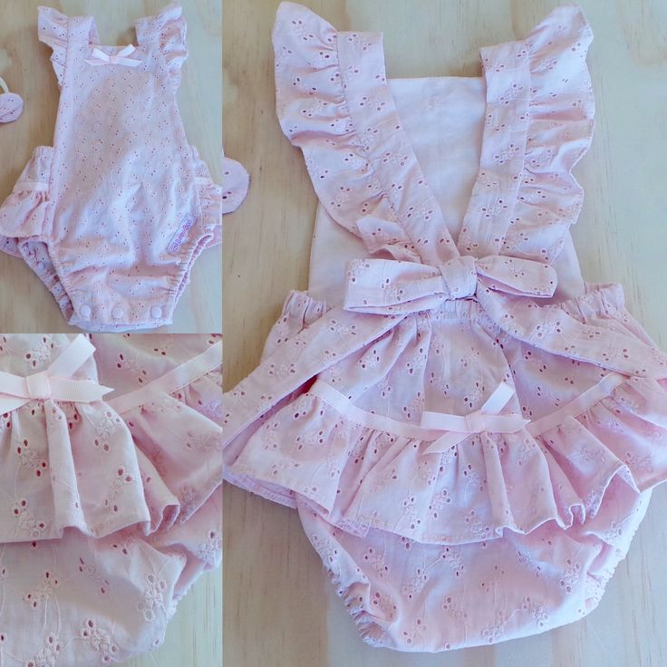 Blush Pink Ruffle Vintage Romper