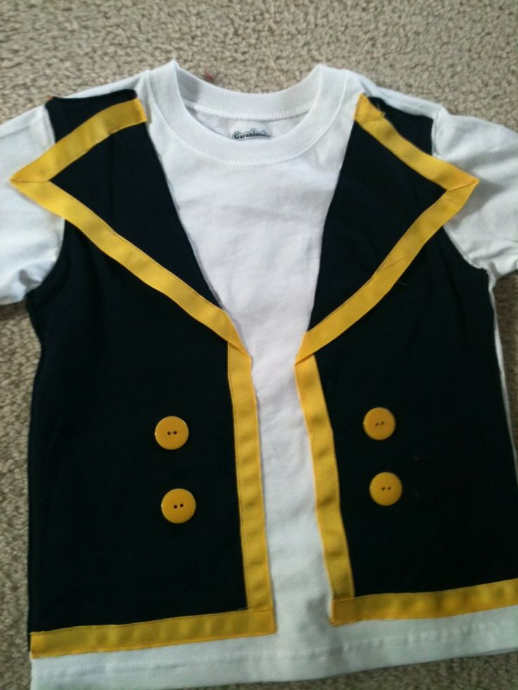Jake and the Neverland Pirates Shirt with faux Vest. $25.00, via Etsy.