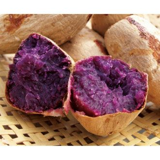 Okinawan Purple Sweet Potatoes. Known for being a super food rich in antioxidants and sweeter than orange sweet potatoes.