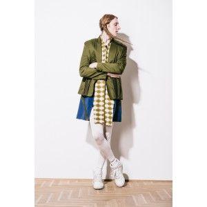 Moxos - green jacket shirt with pleats