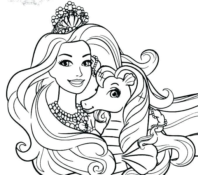 Collection Of Coloring Pages Princess Games Download Them Barbie