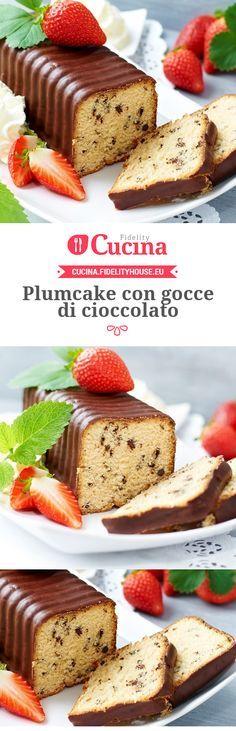Il #plumcake con gocce di #cioccolato è un dolce goloso ma semplice da realizzare, ottimo per la #colazione o per terminare un pasto.