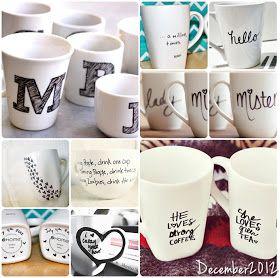 DIY sharpie mugs--good Christmas gift