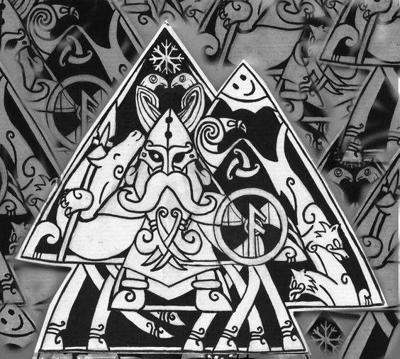 Odin - Valknut tattoo