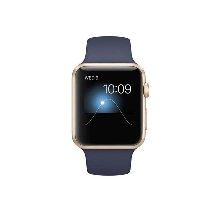 Refurbished Apple Watch (Series 1) Sport Gold with Midnight Blue Sports Band 42mm (A1554)-Charger NOT included