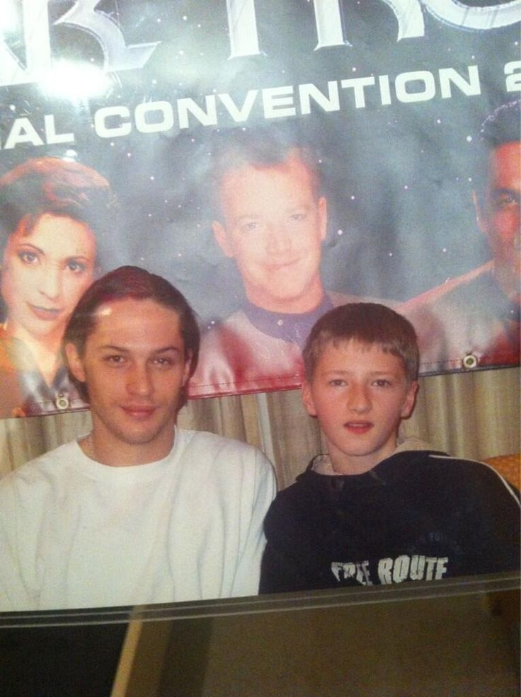 a much younger tom hardy, adorable