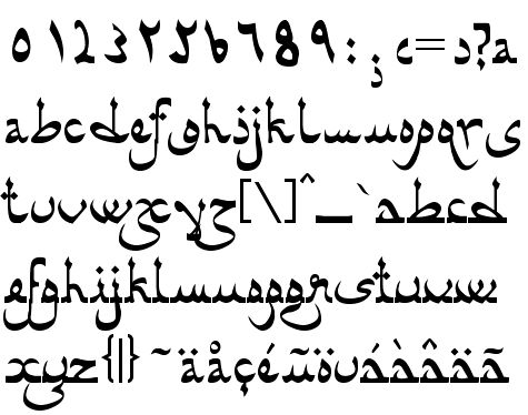 Arabic Style Font Into type design.
