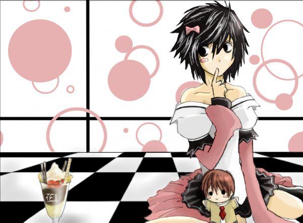Death Note Shounen Ai L X Light Chibi Crossdressing