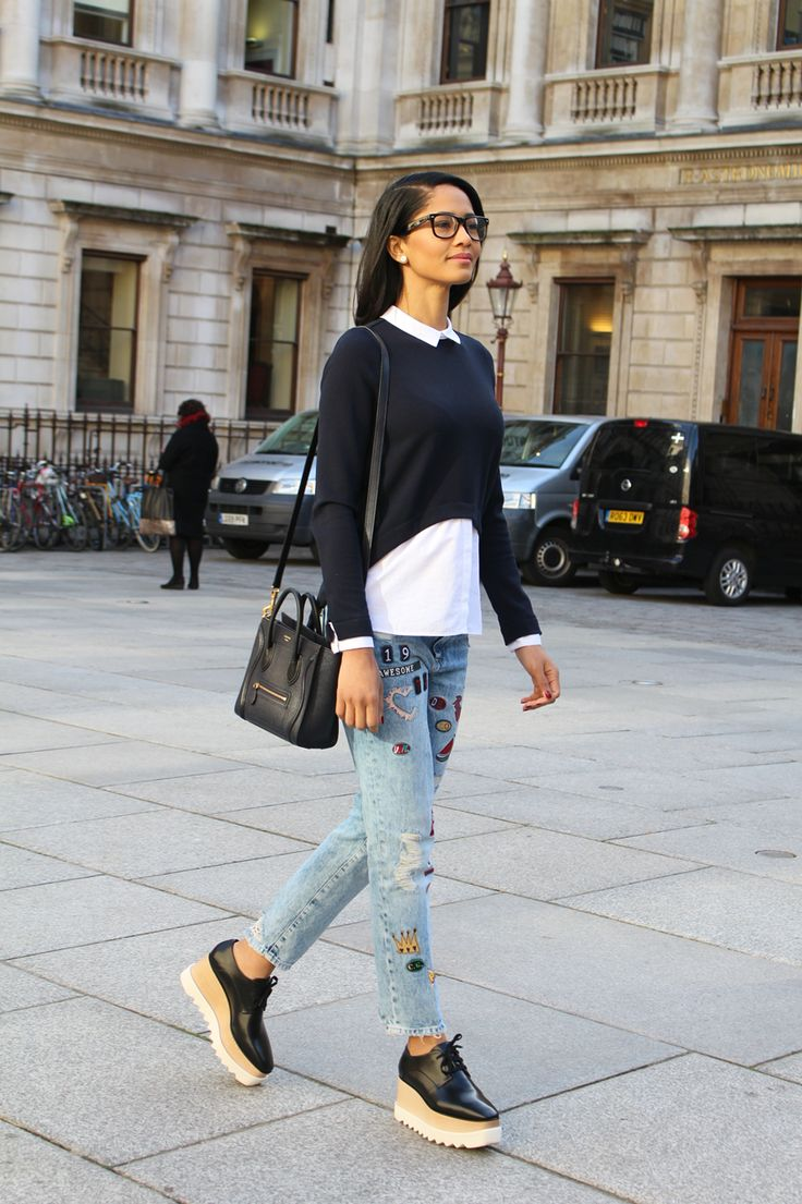 Celine nano bag, Zara jeans, Zara top, Stella McCartney shoes