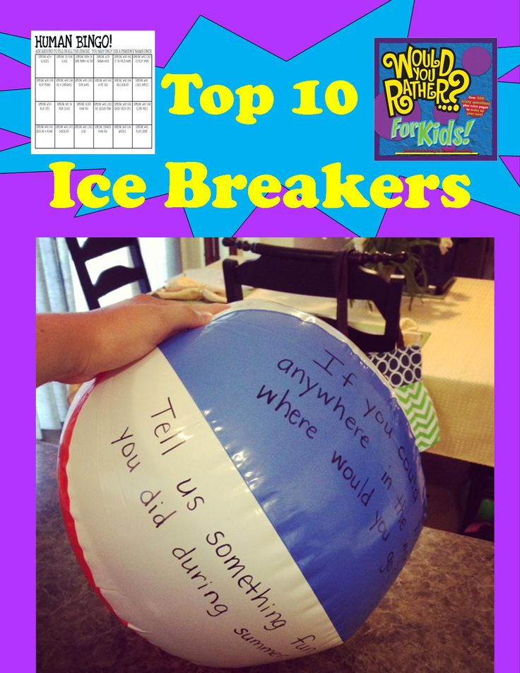 free youth adults ice breakers