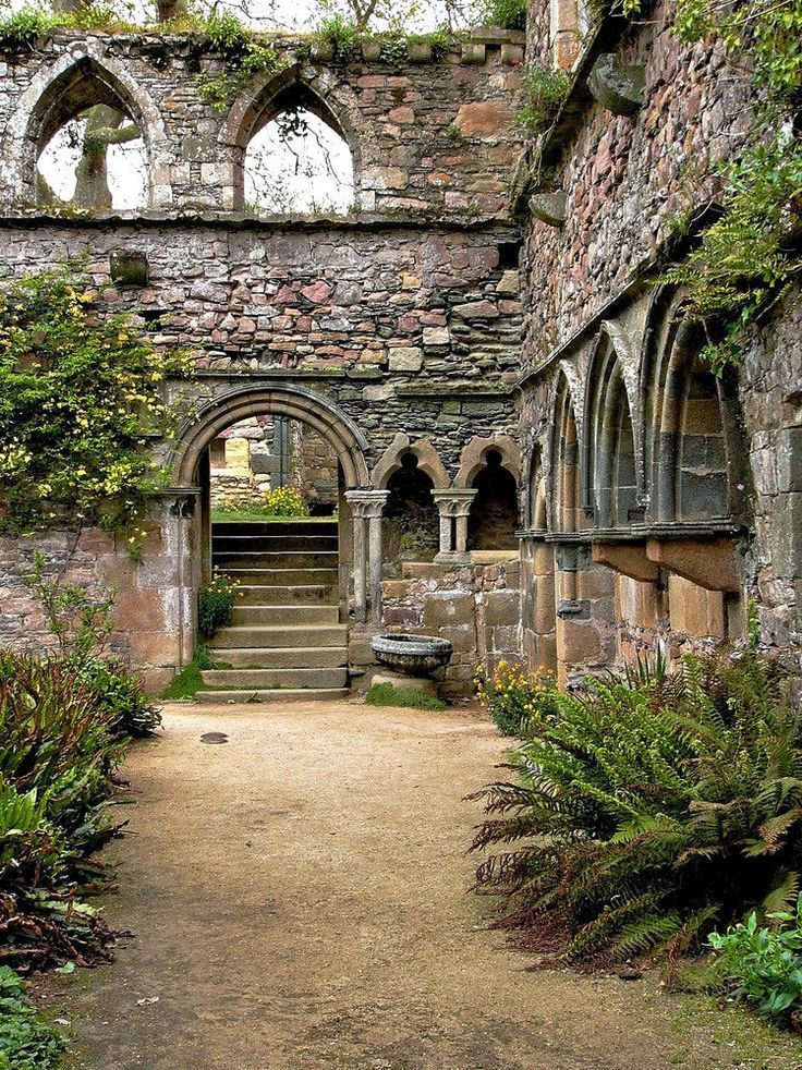 Beauport abbey ruins,Brittany