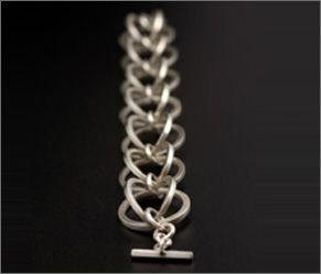 Circle Bracelet In Silver, Mayza João