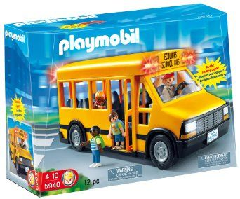 Amazon.com: Playmobil School Bus: Toys & Games