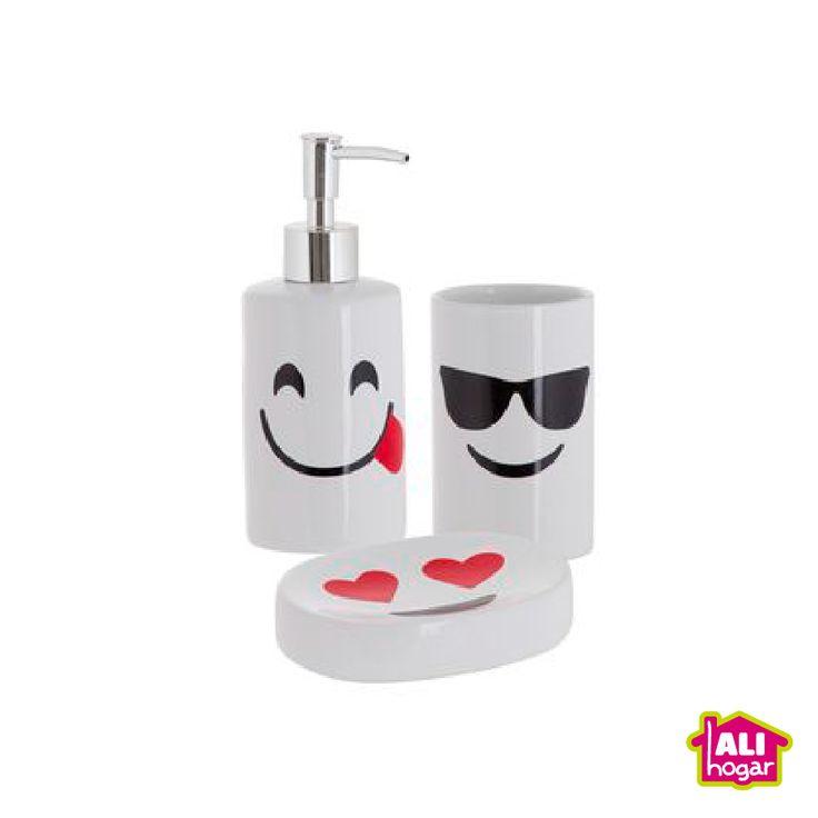 Set de baño. Jaboneras y vaso para cepillos de dientes.