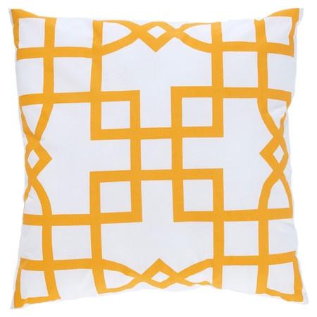 Maze Pillow in Saffron
