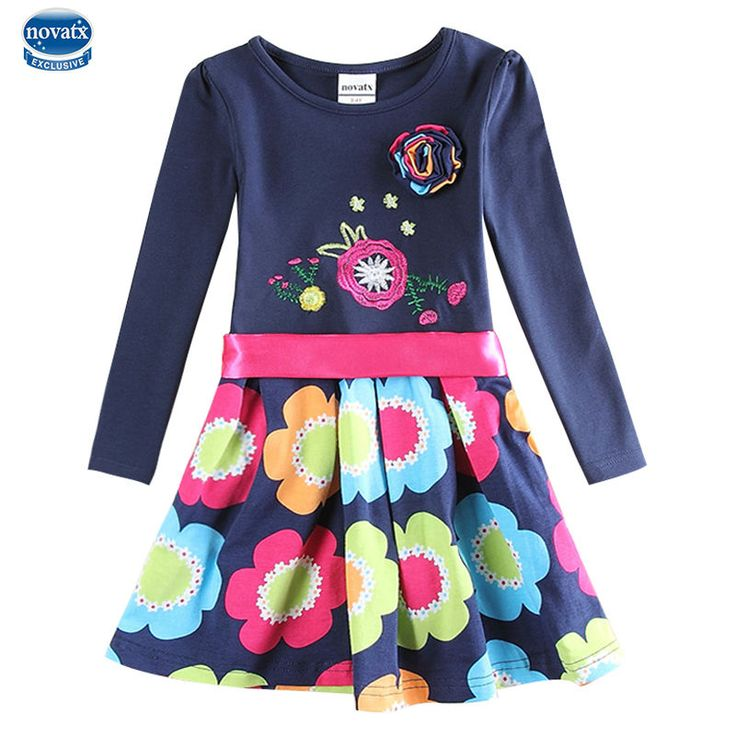 girl dress navy kids dress for baby girls clothes summer style nova kids brand girls party princess dresses children clothing