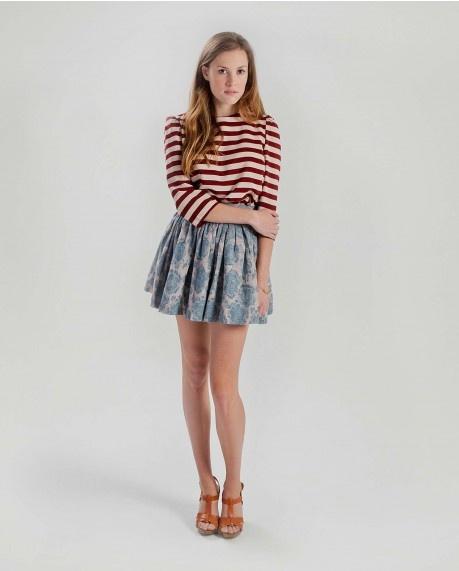 Stripe top with back zipper $52.50