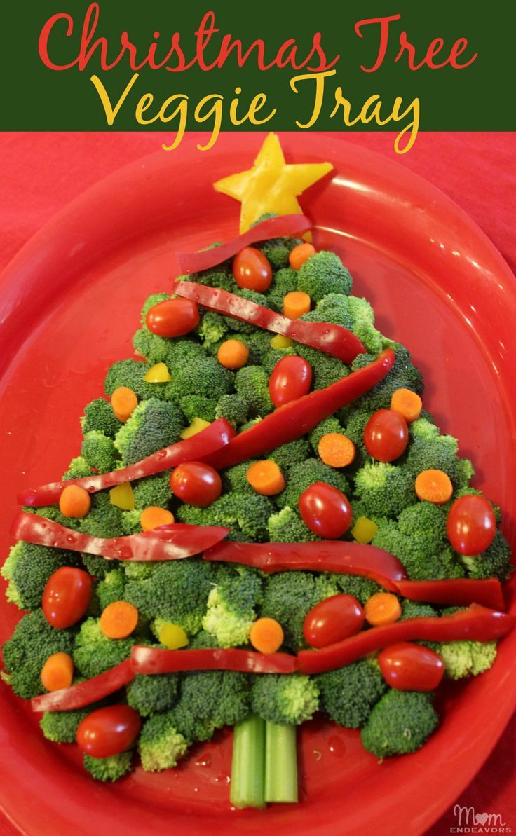 Christmas Tree Veggie Tray - perfect for holiday parties or