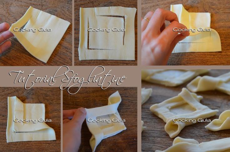 TUTORIAL: Come piegare la pasta sfoglia per ottenere semplici e versatili sfogliatine http://blog.giallozafferano.it/cookingiulia/2012/07/06/tutorial-come-piegare-la-pasta-sfoglia/