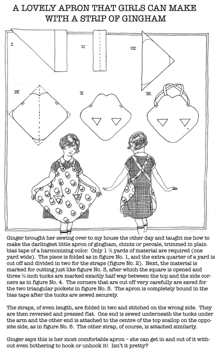 Q is for Quilter » Blog Archive » A Lovely Apron That Girls Can Make