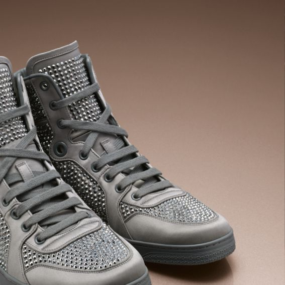 Crystal-covered high-tops—  a chic new way to get your kicks.
