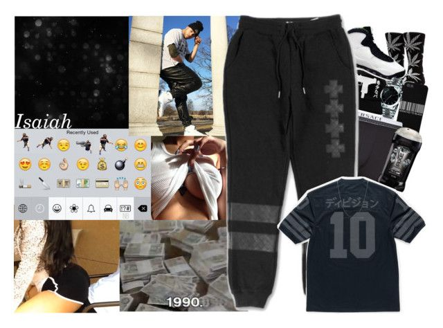 """""""They copy the name, they copy the gang, they copy the slang.{Don't Be Savin My Shït}--Isaiah"""" by brittneyloves ❤ liked on Polyvore featuring beauty, HUF, UZI, NIKE, Gucci, Versace, David Yurman and TattooKing"""