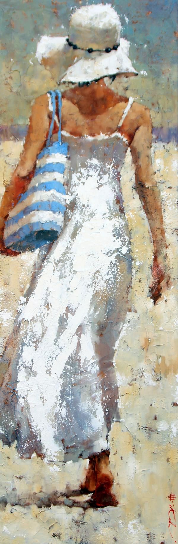 Andre Kohn - This is such a lovely, peaceful painting. Pretty for wall beside tv console in living area