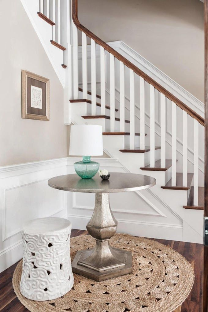 Foyer Table With Stools : This post by erin olson moser features our chalice accent