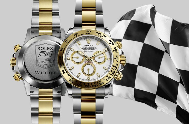 The two-tone Rolex Daytona 116503 watch awarded to the winner of the 2017 Rolex 24 Hours of Daytona race driver Ricky Taylor.