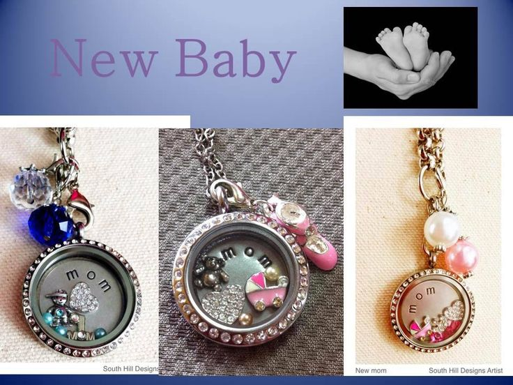 Welcome new baby with a beautiful, personalized South Hill Designs locket!    Contact me on my FB page and I can help you get started!!!