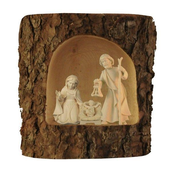Krippen - Krippe Holz Weihnachtskrippe Baumstamm, Ahorn 12cm - ein Designerstück von Piccolino-Hobby bei DaWanda