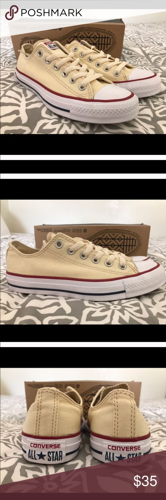 Converse Chucks Brand New Off White Converse. Women size 7, Men/ Kids size 5. Willing to negotiate on the price, just make an offer. Shoes Athletic Shoes