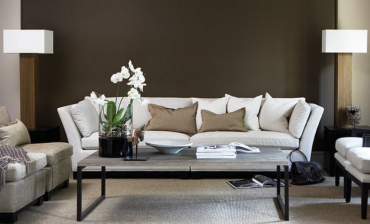 cool browns and ivory - fabulous styling for the living room - Slettvoll