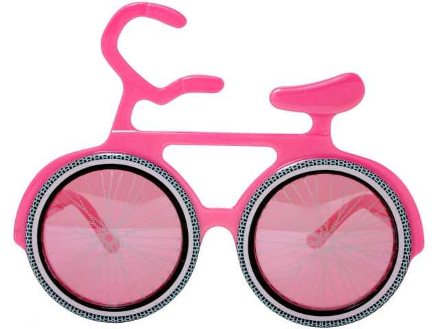 Bicycle Novelty Sunglasses Party Glasses Pop Art Pink Frame