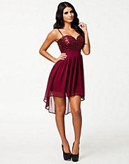 Sequin Cut Out Back Chiffon Dress, Elise Ryan