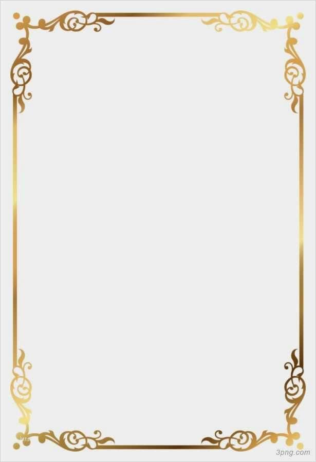 Goldener Rahmen Lokalisiert Auf Weissem Hintergrund
