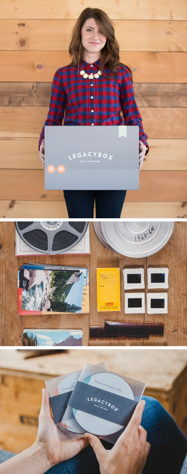 Legacybox unlocks your old analog home movies, film reels, and photos so that you can watch them digitally forever. The easiest, simplest, and most beautiful way to preserve your outdated tapes, film, pictures and audio digitally. FREE shipping both ways with today's offer + 25% OFF. Offer expires 05/31/15.