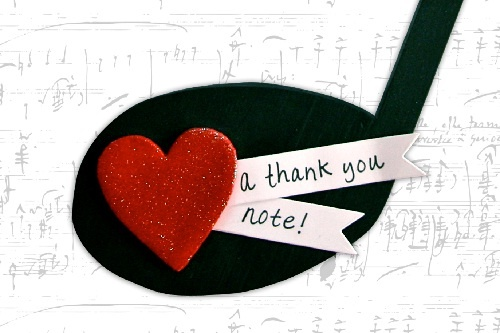 """Don't for get to thank the music teacher! Create a """"Thank You Note"""" for your child's music teacher, choir director, etc. Guest Blogger Jessica Griffin shows you how. #GlueDots"""