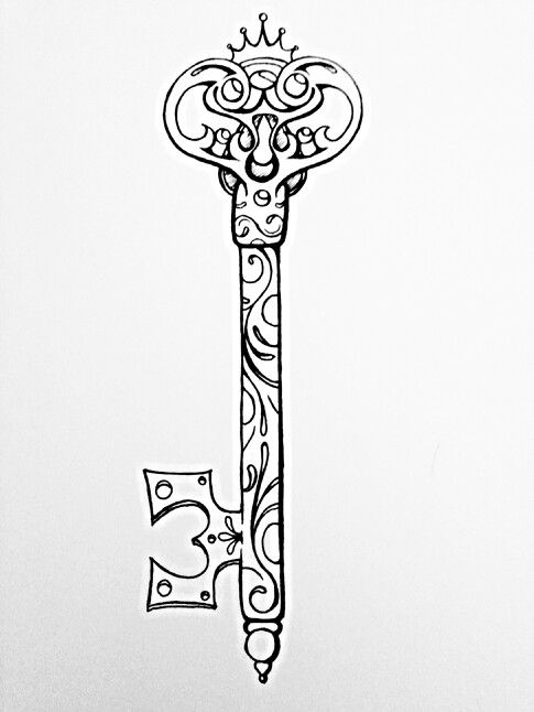 Possible key tattoo design beautiful things pinterest for Lock and key decor