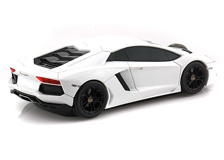 Lamborghini Aventador Wireless Computer Mouse -- White land Mice