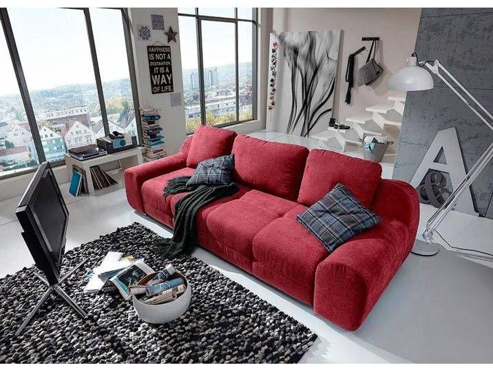 Sit More Big Sofa Rot Inkl Ruckenkissen Fsc Zertifiziert
