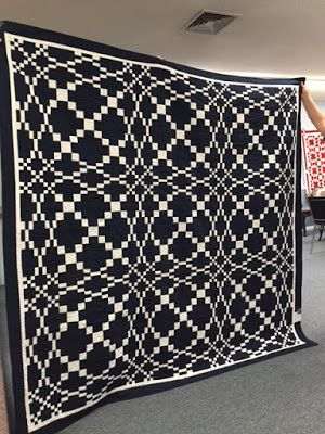 Hearthside Quilters: June Meeting Two Color Solid Quilt Challenge and show and tell.