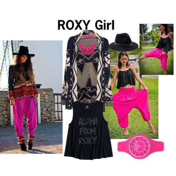 How to wear Amonchai Harem pants! Get more inspiration from Amonchai at Polyvore:  https://www.polyvore.com/m/set?.embedder=24007223&id=229514064  #roxy #roxygirl #harempants #womensfashion #pink #cooloutfit #girly #roxysurfer #chic #cute