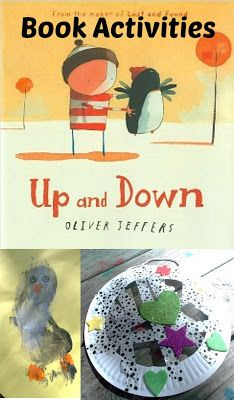 Craft activities to go with the book Up and Down by Oliver Jeffers