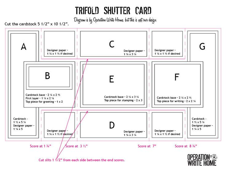 55 best Tri Shutter Cards images on Pinterest Tri fold cards - Tri Fold Card